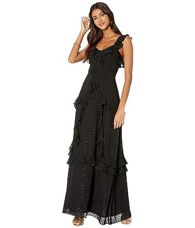 Lilly Pulitzer Riland Maxi Dress (Onyx Moroccan Metallic Clip) Women