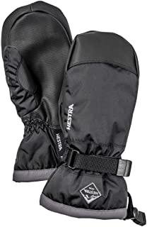 Hestra Gauntlet CZone Junior Mitt - Waterproof, Reinforced Snow Mitt for Skiing and Mountaineering for Kids and Youth - Black/Graphite - 6