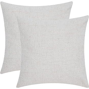 Antistatisch und Atmungsaktiv Leinen Couch Kissenbezug Weinrot Lirex 2er Pack Leinen Kissenbez/üge 40 x 40 cm Flachs Leinen Dekorative Weiche Volltonfarbe Platz Zierkissenbezug