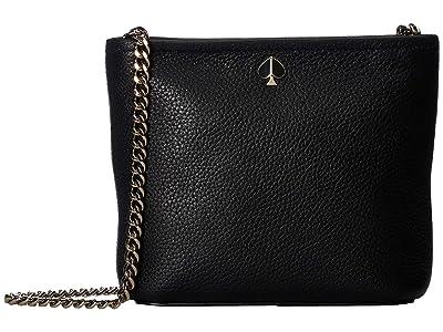 Kate Spade New York Polly Small Convertible Crossbody (Black) Cross Body Handbags