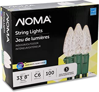 NOMA LED Christmas Lights   70-Count C6 Classic Clear White Bulbs   23' 8