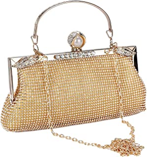 fcfeb8d18ec1f BAIGIO Women's Evening Clutch Wedding Rhinestone Purse Bridal Prom Handbag  Party Ladies Bag