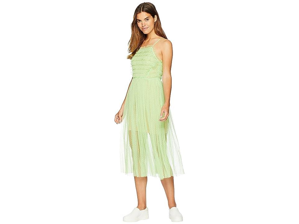 ROMEO & JULIET COUTURE Ruffle Mesh Dress (Green) Women