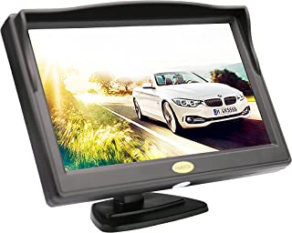 Backup Camera Monitor,RAAYOO S5-001 5 inch High Definition TFT LCD Monitor Display Screen for Car Rear View Camera with 2 ...