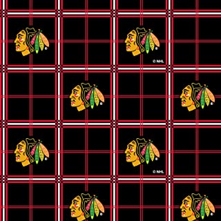 Chicago Blackhawks Flannel Fabric-Sold by The Yard