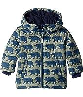 Black Bears Fleece Lined Puffer Coat (Toddler/Little Kids/Big Kids)