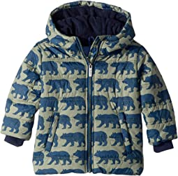 Black Bears Fleece Lined Puffer Coat (Toddler/Little Kids/Big Kids)
