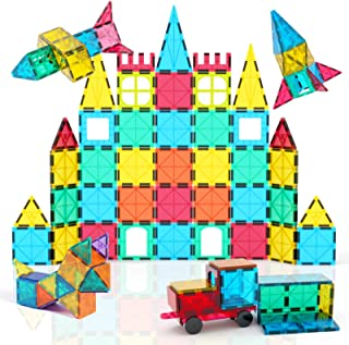 Best Jasonwell 65 PCS Magnetic Tiles Building Blocks Set for Boys Girls Preschool Educational Construction Kit Magnet Stacking Toys for Kids Toddlers Children 3 4 5 6 7 8 Year Old Review
