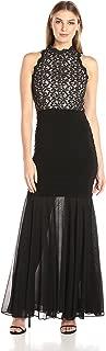 Xscape Women's Long Lace Halter Banded Gown