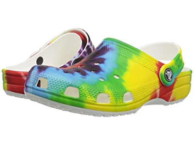 Crocs Kids Classic Tie-Dye Graphic Clog (Toddler/Little Kid/Big Kid) (Multi) Kids Shoes