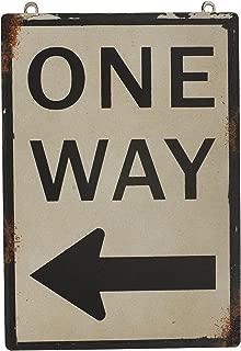 Metal Antique Sign one way left arrow 8