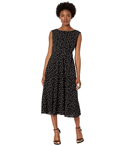 Tahari by ASL Petite Polka Dot Side Wrap Midi Dress (Sprinkled Dot) Women