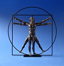 Parastone - DaVinci Vitruvian Man Sculpture - Bronze - Resin, Metal - Small ( 8.5