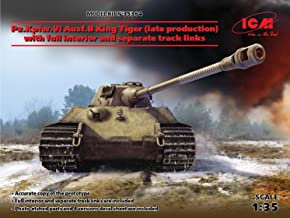 ICM 1/35 Scale Pz.Kpfw.VI Ausf.B King Tiger (Late Production) with Full Interior - WWII German Heavy Tank Model Building Kit #35364