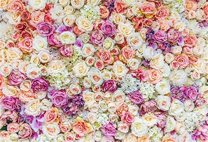 Abstract 8x10 FT Backdrop Photographers,Surreal Floral Arrangement Lilacs Roses and Numerous Leaves Cool Colorful Image Background for Baby Shower Bridal Wedding Studio Photography Pictures Multicolo