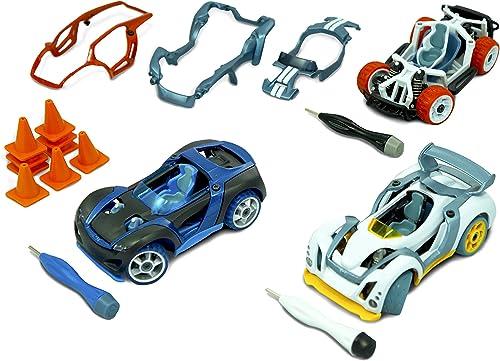 Modarri - Set de 3 Véhicules - rue, Track, Dirt, 9 Safety Cones, 3 Hex Tools