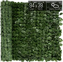 Best Choice Products 94x39in Artificial Faux Ivy Hedge Privacy Fence Screen for Outdoor Decor, Garden, Yard - Green
