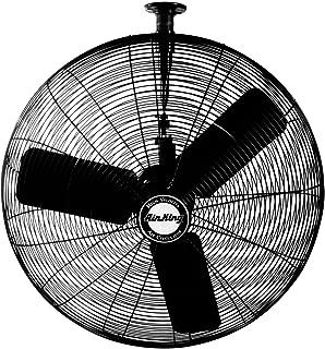 Air King 9325 24-Inch 3-Speed Industrial Grade Oscillating Ceiling Mount Fan, 1/4-Horsepower, Black Finish