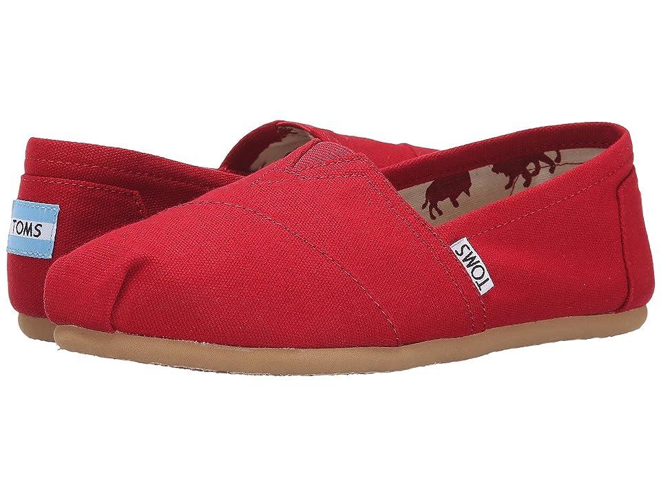 TOMS Classics (Red Canvas) Women