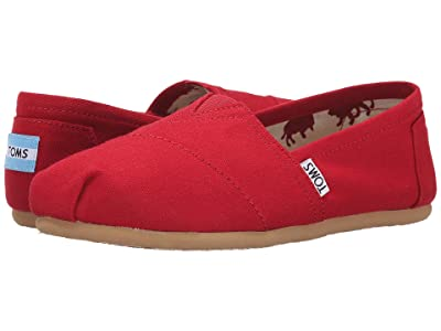 TOMS Classic Alpargata (Red Canvas) Women