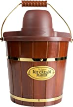 Nostalgia Electric Bucket Ice Cream Maker With Easy-Carry Handle, Makes 4-Quarts in Minutes, Frozen Yogurt, Gelato, Made F...