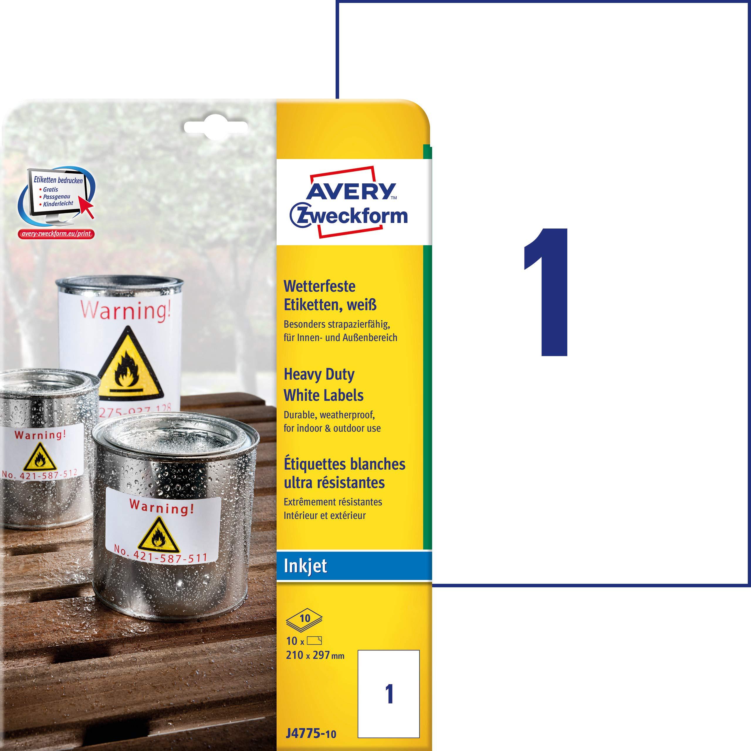 Avery España J4775-10 - Pack de 10 Folios de Etiquetas de ...