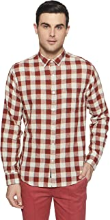 Linen Club - Cavallo Men's Checkered Slim Fit Casual Shirt