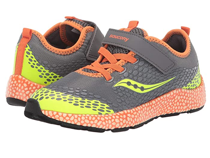 Saucony Kids  S-Astrofoam (Little Kid/Big Kid) (Grey/Orange) Boys Shoes