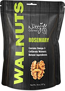 Sponsored Ad - The Nutty Gourmet Rosemary Flavored Walnuts - Keto Snacks - Healthy Snacks - Walnuts Nuts - Heart Healthy T...