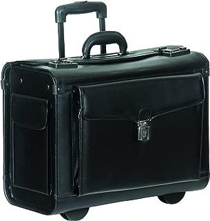 Mancini Leather Goods Wheeled Laptop Catalog Case