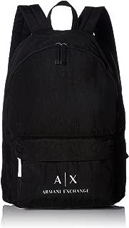 Armani Exchange Men's Crinkle Nylon Backpack, nero/black, UNI