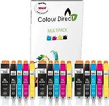 Colour Direct 15 ( 3 juegos)  Cartucho de Tinta Compatible PGI 550 / 551 XL - 3 X PGI 550xl Negro 3 X CLI 551xl Negro 3 X CLI 551xl Cian 3 X CLI 551xl Magenta 3 X CLI 551xl Amarillo