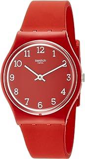 Swatch Originals Sunetty Red Dial Silicone Strap Unisex Watch GR175