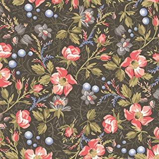 Windham Fabrics Colonial Williamsburg Annies Garden Charcoal Fabric Fabric by the Yard
