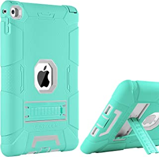 BENTOBEN iPad Air 2 Case, [Hybrid Shockproof Case] with Kickstand Rugged Triple-Layer Shock Resistant Drop Proof Case Cover for iPad Air 2 with Retina Display/iPad 6, Mint Green