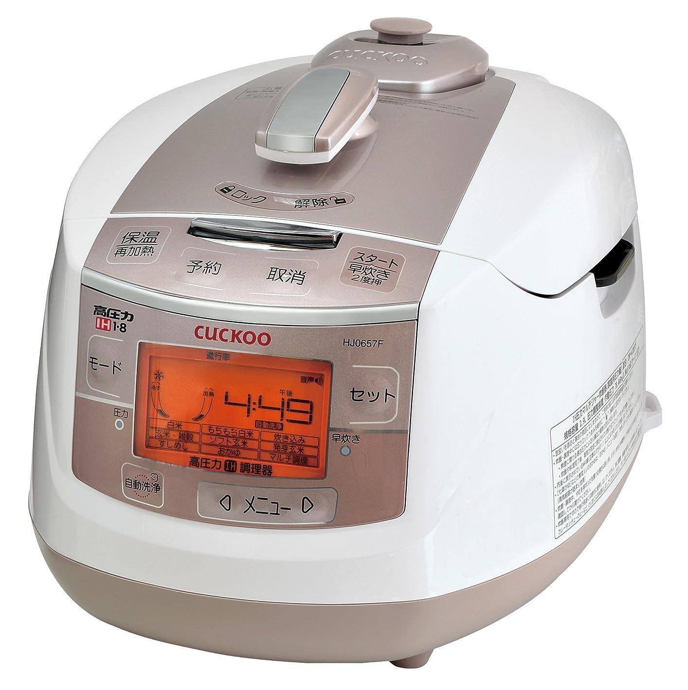 亡命有力者日本美健 IH式 炊飯器 クック高圧力炊飯調理器 cuckoo NEW 圧力名人 CRP-HJ0657F