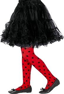 "Smiffys Smiffys 47336 Smiffy""s Marienkäfer-Strumpfhose, für Kinder, rot/schwarz, Medium - Large"