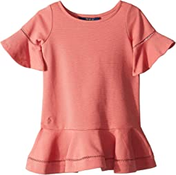Ponte Inset-Lace Dress (Toddler)