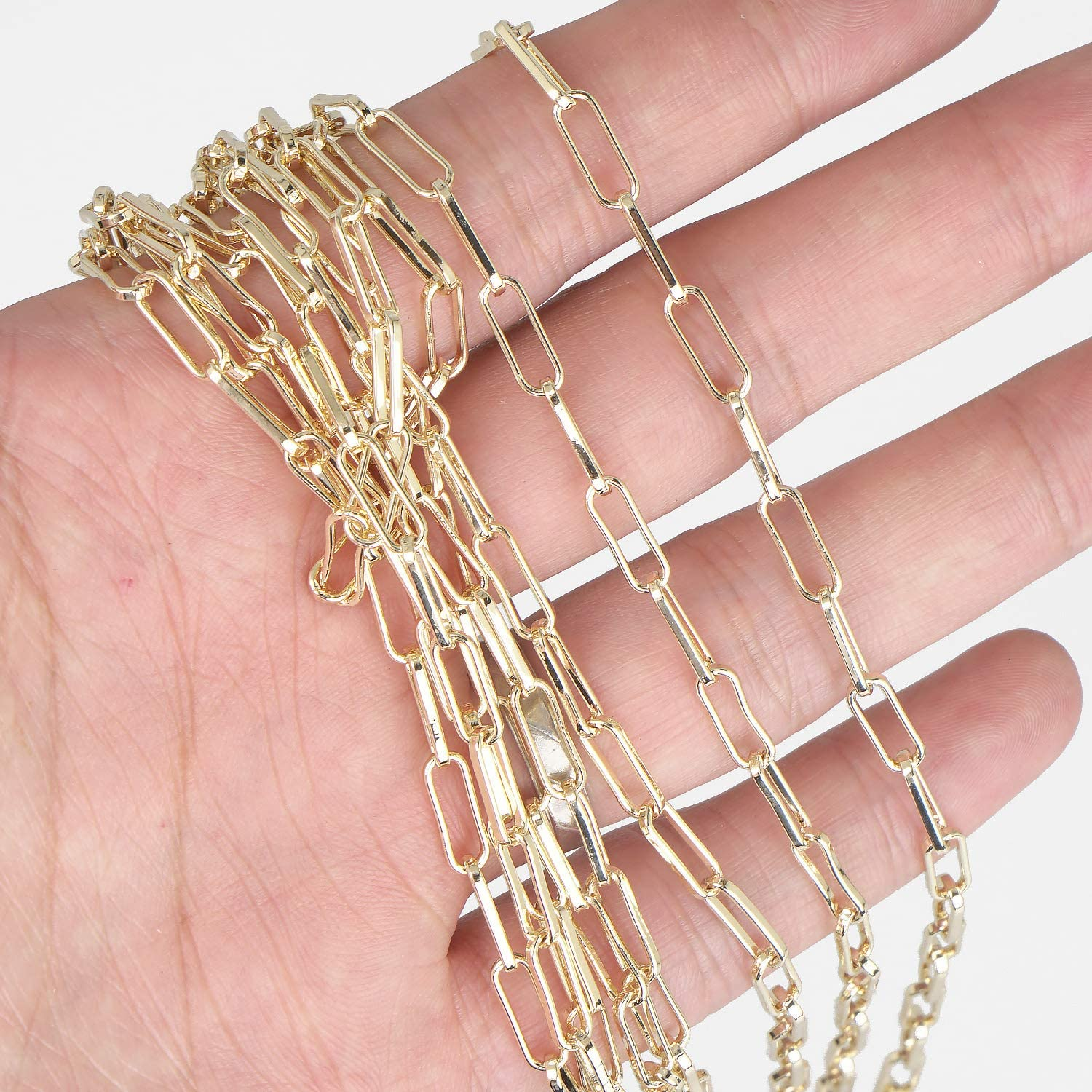 14K Gold plated Brass Chains Link 3.6 Sale special price C Bombing new work 10mm Chain Wholesale