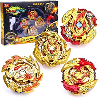 Ingooood Metal Fusion Battle Burst Gyro Toys for Kids, 4X High Performance Tops Attack Set with Launcher and Grip Starter ...