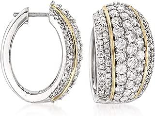 4 carat diamond hoop earrings