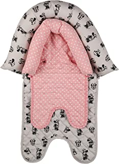 Disney Minnie Mouse Baby Girls Infant Head Support for Car Seats, Strollers & Bouncers, Minnie Mouse Print, Polka Dot