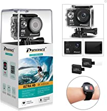 PROGRACE WP350 Sports DV Camera WiFi Video Action Camera Waterproof 4K 60fps 30fps 1080p Full HD for YouTube Underwater Remote Digital Camera Accessories Kit 12MP 170 Wide Angle 6G Lens