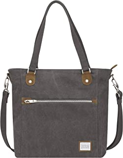 Travelon Anti-Theft Heritage Tote Bag, Pewter (Gray) - 33075 540