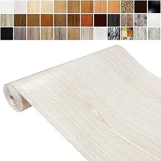 Askol DecoMeister Klebefolien in Holz-Optik Holzfolien Deko-Folien Holzdekor Selbstklebefolie Möbelfolie Selbstklebend Holz-Maserung 45x100 cm Weißesche