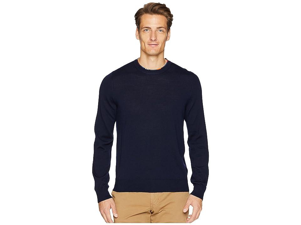 Paul Smith Merino Wool Crew Neck Sweater (Navy) Men