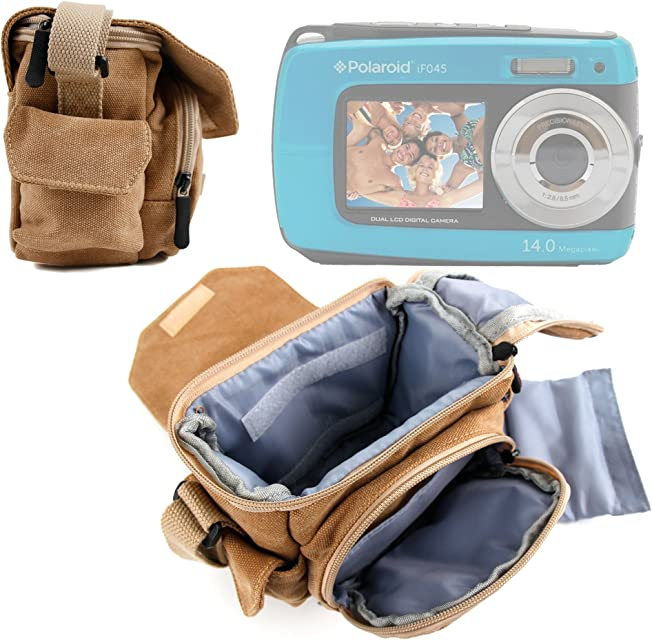 DURAGADGET Bolso/Canvas para Cámara compacta Polaroid IF045 | Sony DSC-W810 | Fujifilm XP90 | Canon PowerShot SX620 HS - Marrón