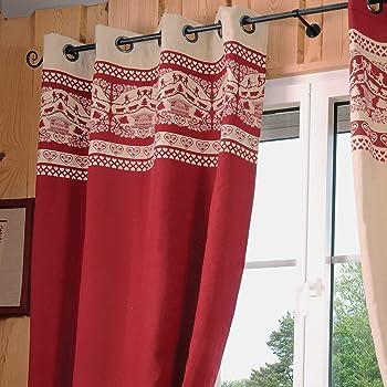 Tenda stile montagna, modello: Armailli, 135 x 260 cm, colore: Rosso