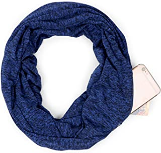 Scarves for Women Infinity Scarf with Zipper Secret Pocket Christmas Gift