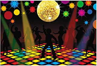 Fun Express - Disco Party Backdrop Banner (3pc) - Party Decor - Wall Decor - Preprinted Backdrops - 3 Pieces